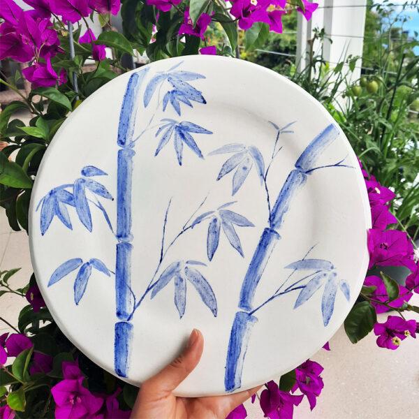 Bamboo plate